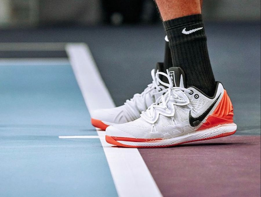 Nikecourt Air Zoom Vapor X Kyrie 5 Hot Lava Nike Nike Zoom Kyrie