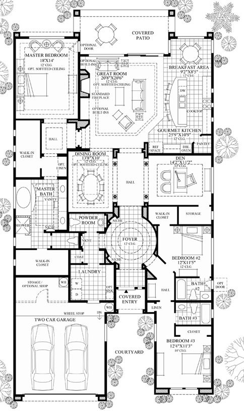 New Luxury Homes For Sale In Scottsdale Az Windgate Ranch Scottsdale Cassia Collection Family House Plans House Plans Mansion Courtyard House Plans
