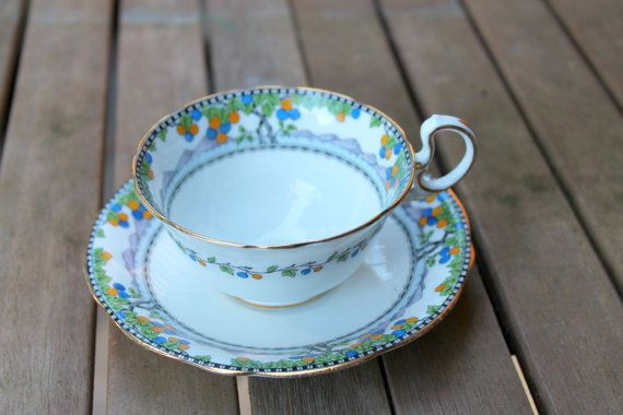Very Rare Vintage Aynsley Teacup And Saucer  by HudsonVintageHome, $59.99
