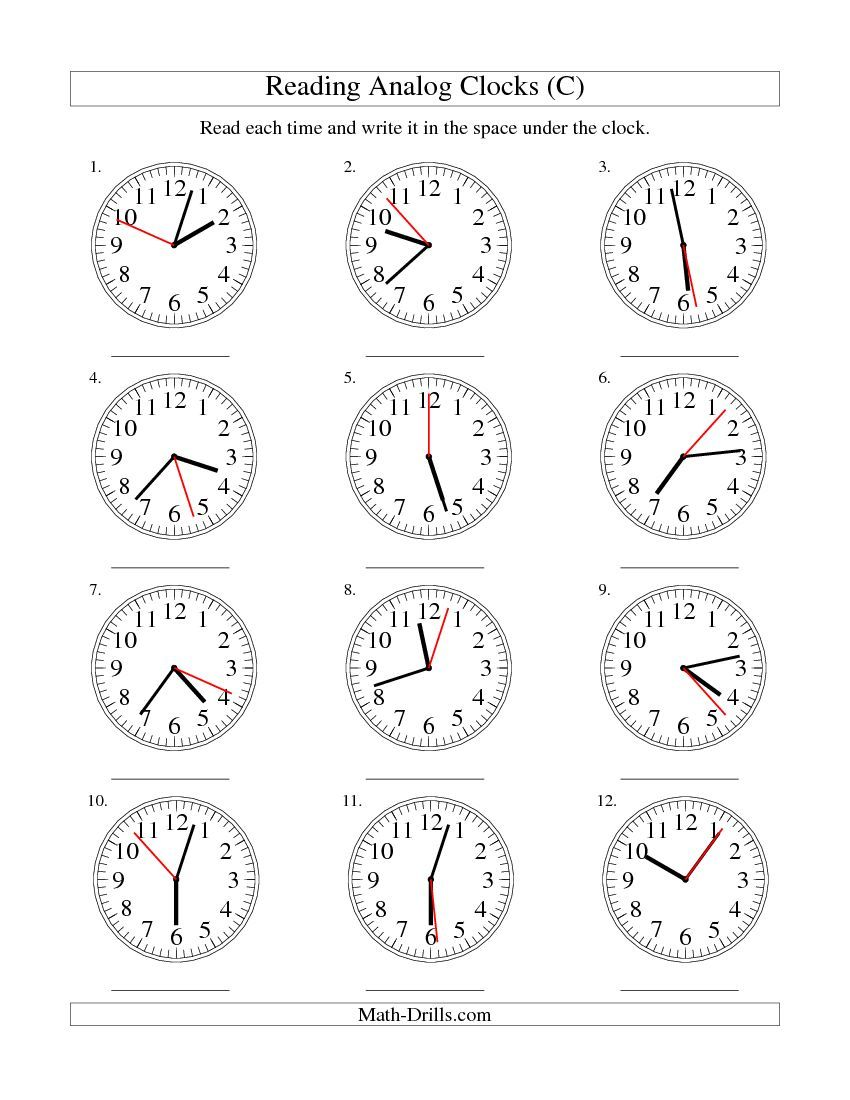 Reading Time on an Analog Clock in 1 Second Intervals (C