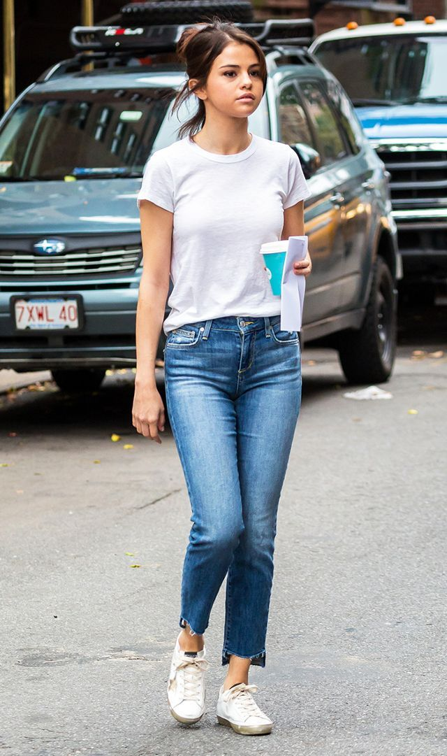 1f86e01df58d Selena Gomez Wore Controversial Sneakers to Film Her New Movie ...