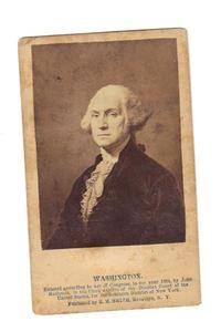 Carte De Visite Of President George Washington C 1864 Published By EM Smith Brooklyn NY