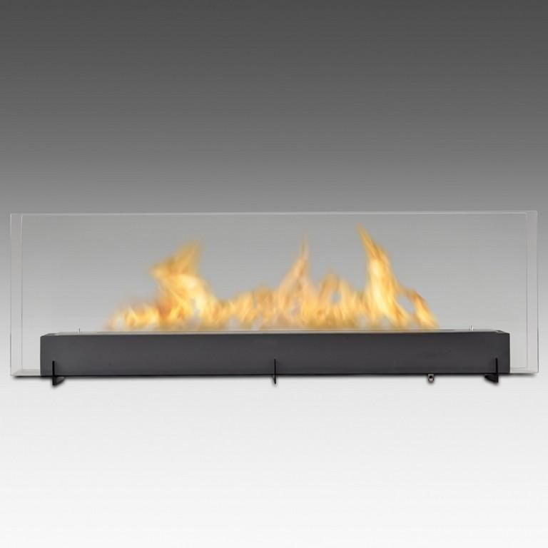 Vision Iii Freestanding Bio Ethanol Fireplace Matte Black Eco