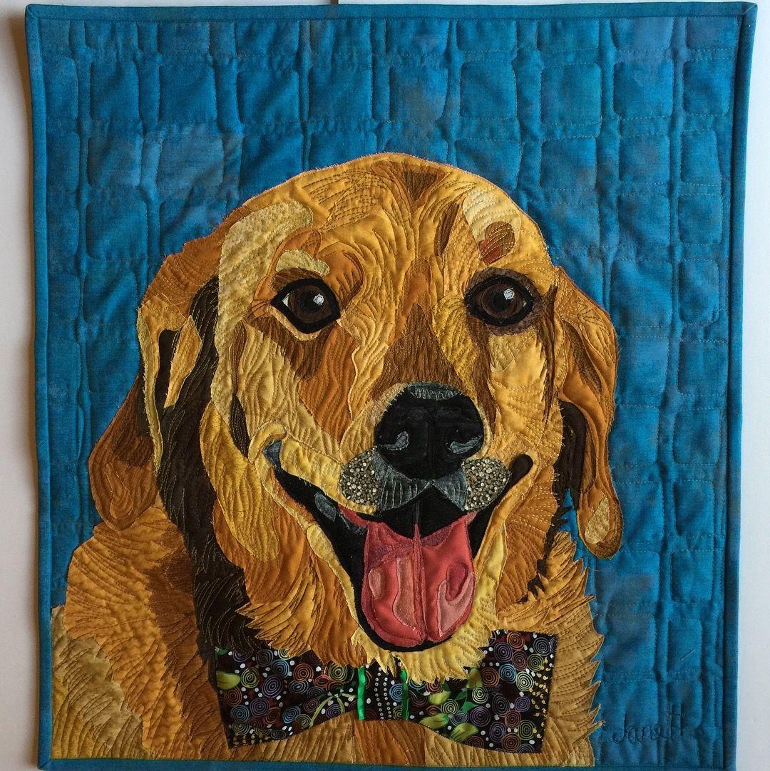 Pet Portraits Fabric Collage By Jane Haworth Www Janehaworth Com