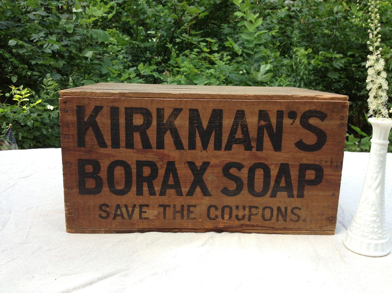 Vintage Borax Soap Box. $100.00, via Etsy.