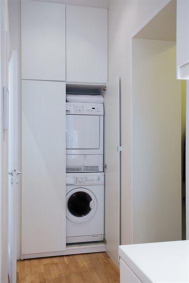 68 m² sin pasillos Laundry, Laundry rooms and Bath