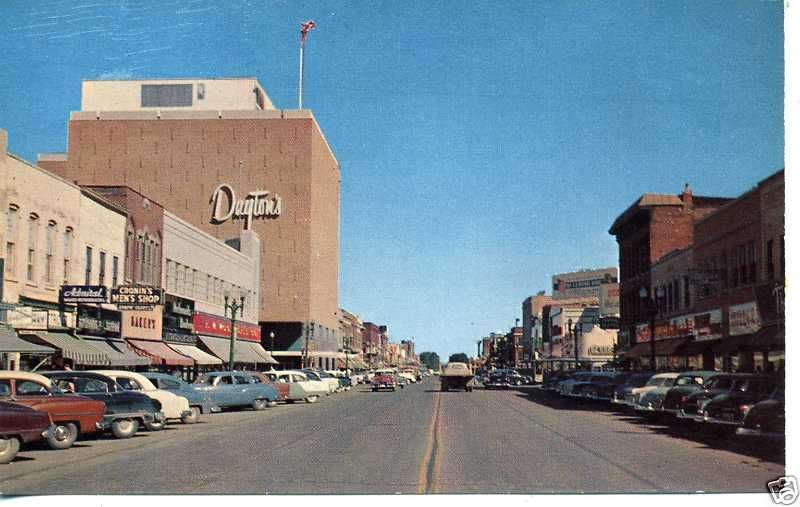 Minnesota Postcard Former Dayton S Department Store In Downtown