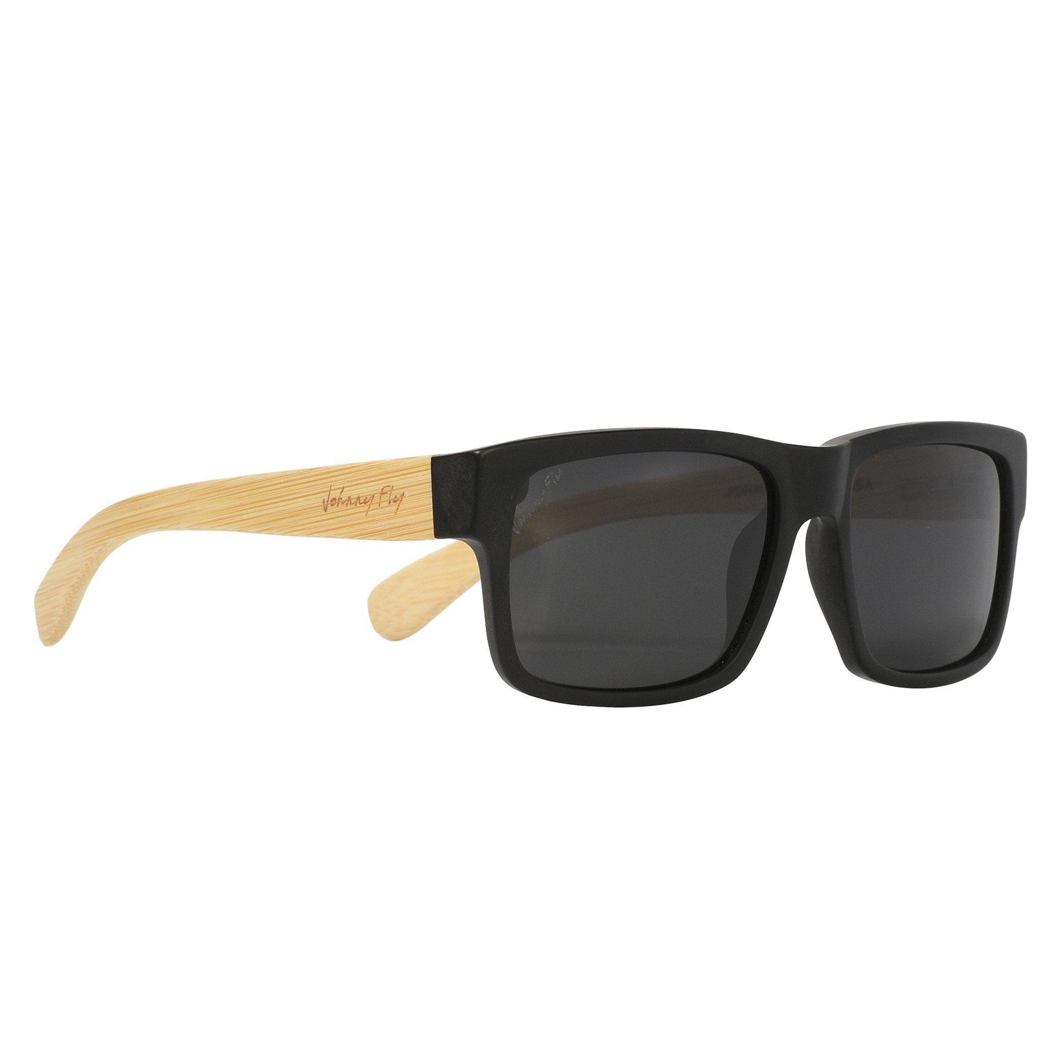 fc452d457b Johnny Fly Aero Fly Bamboo Sunglasses. Bamboo arms. Medical grade acetate  front frame.