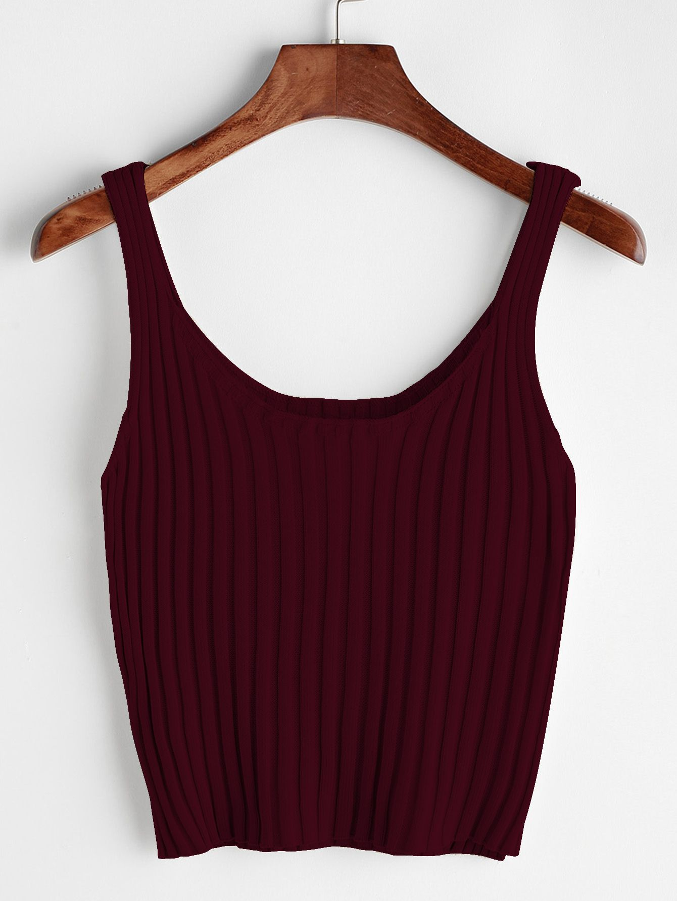 ebb9bff3690 Ribbed Tank Top | Clothes in 2019 | Tank tops, Cropped tank top, Tops