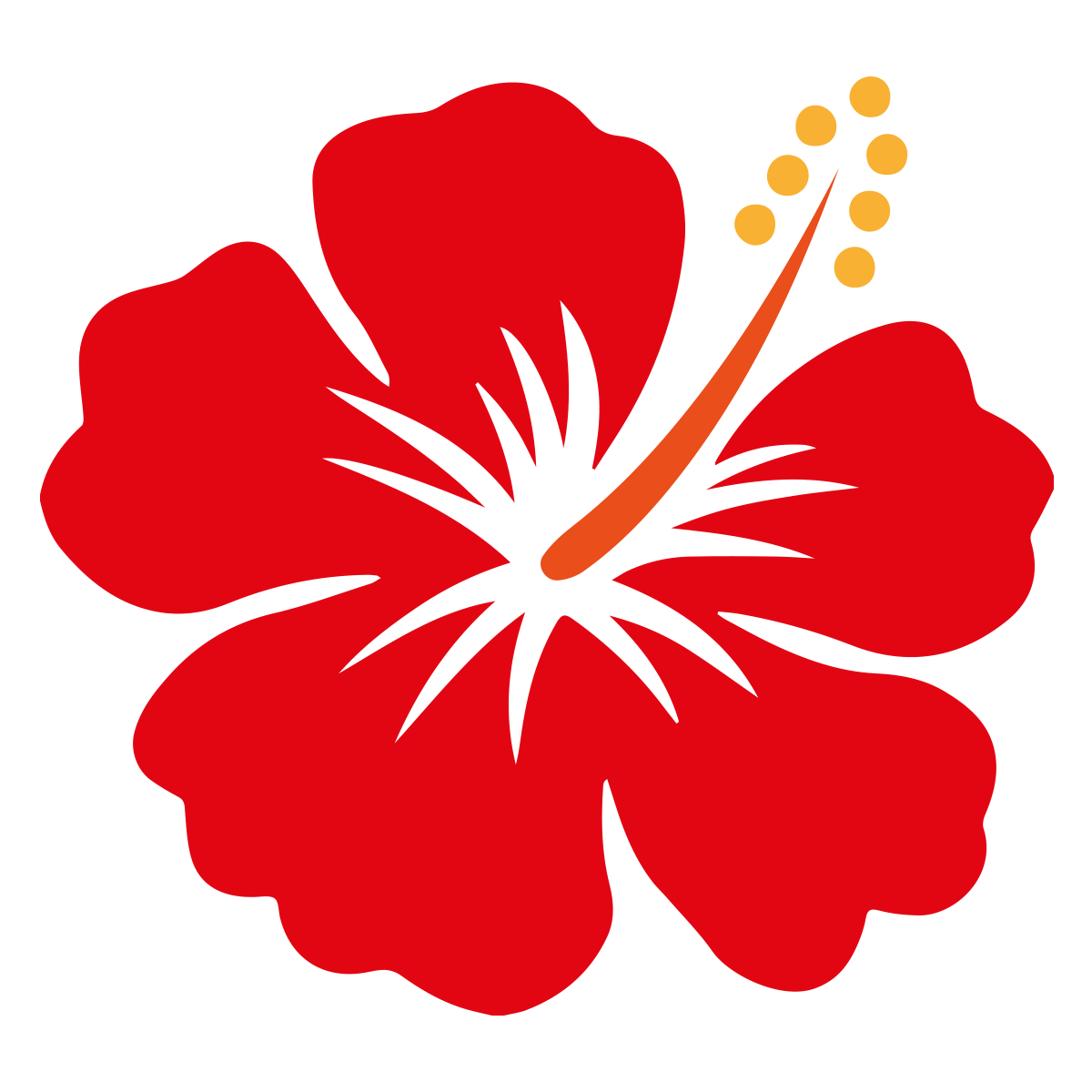 Hibiscus Vector Free Vector Logo Hibiscus Drawing Flower Stencil Flower Silhouette