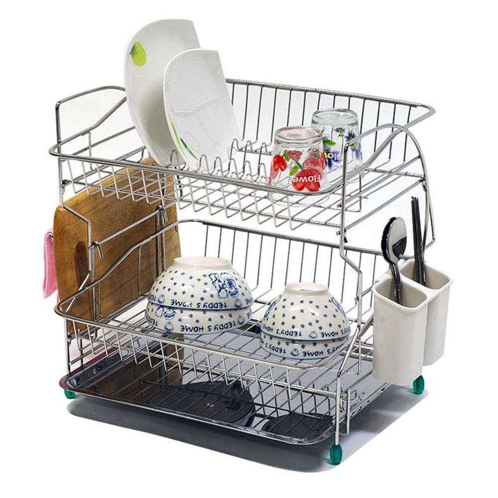 Shelves With Dishes Pro Dish Drainer 2 Tiers Introduction Description