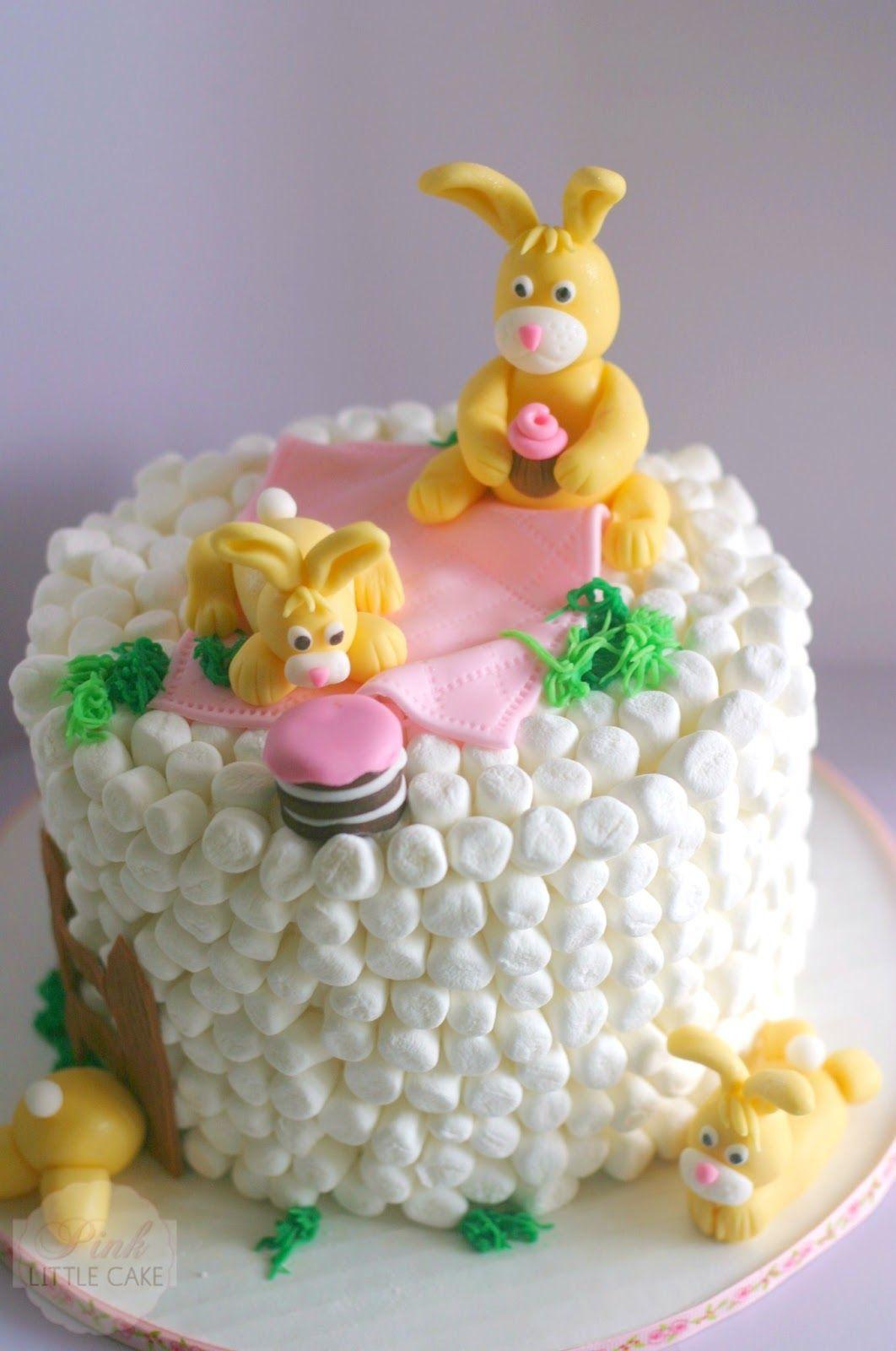 Marshmallow Bunny Cake~How to tutorial
