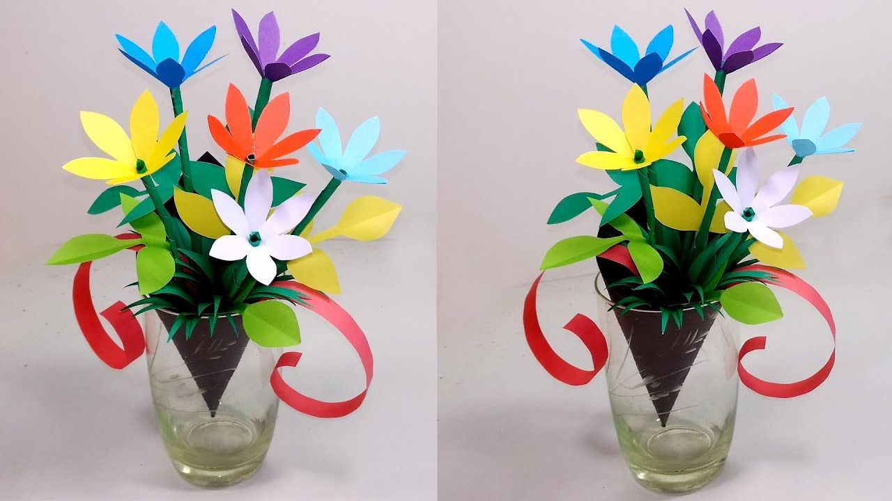 How to make beautiful paper flower bouquet making step by step for how to make beautiful paper flower bouquet making step by step for gift izmirmasajfo