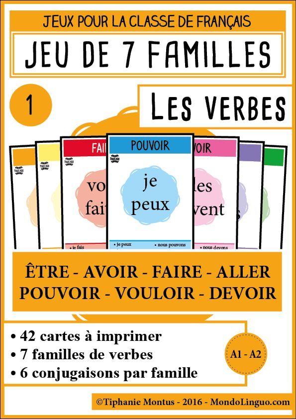 7F - Les verbes 1 Mondolinguo - Français Scolaire Pinterest