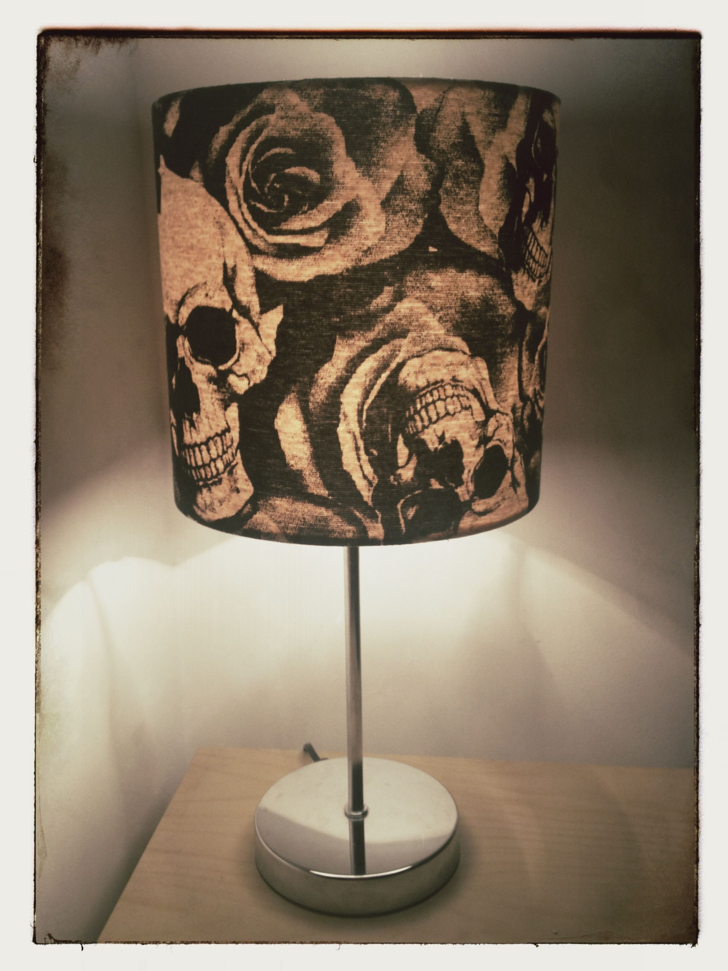 Skulls roses lampshade 20cm drum 10522 aloadofball Image collections