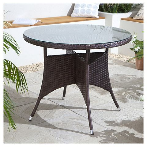 Tesco direct: Rattan Garden Table | rattan | Pinterest