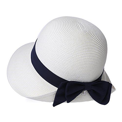 aad3390b2d5 The perfect Packable Womens Short Brim Straw Fedora Sun Hat Summer Beach  Cloche SPF 55-58cm. [$11.37 - 19.92] nanaclothing from top store