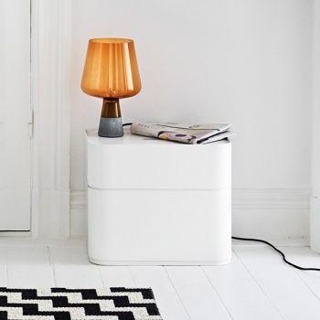 Iittala Vakka laatikko, valkoinen -> Pöytänä