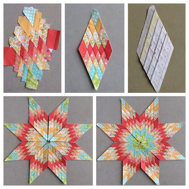 This Is Such A Clever Way To Make A Mini Lone Star Block Found In The Book Little Lone Star Quilts It D Lone Star Quilt Pattern Lone Star Quilt Star Quilts