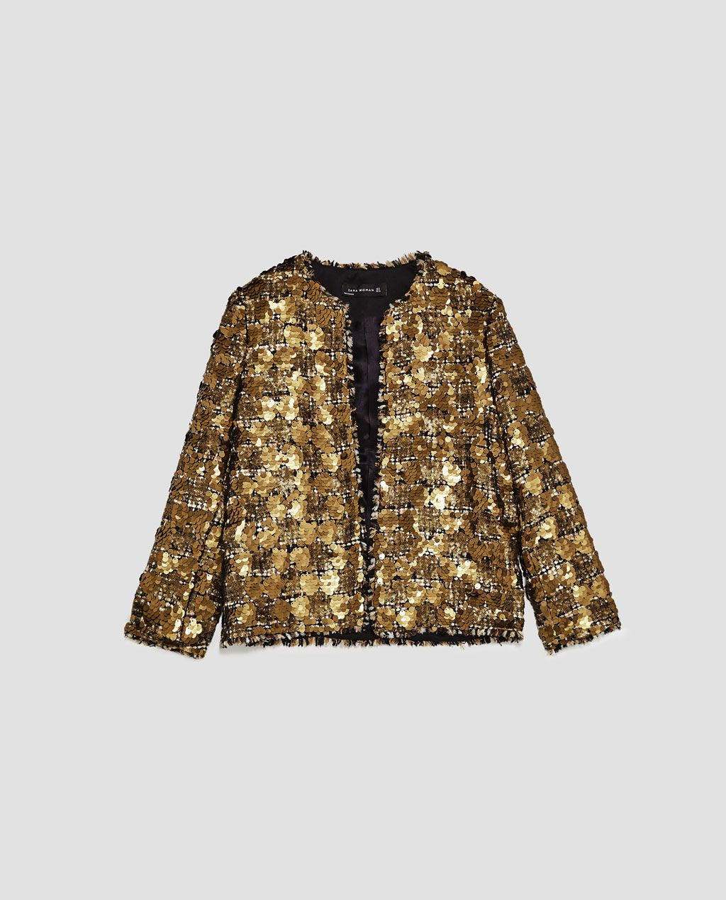 SEQUINNED TWEED JACKET from Zara Sequin Blazer 7f343d07fe987
