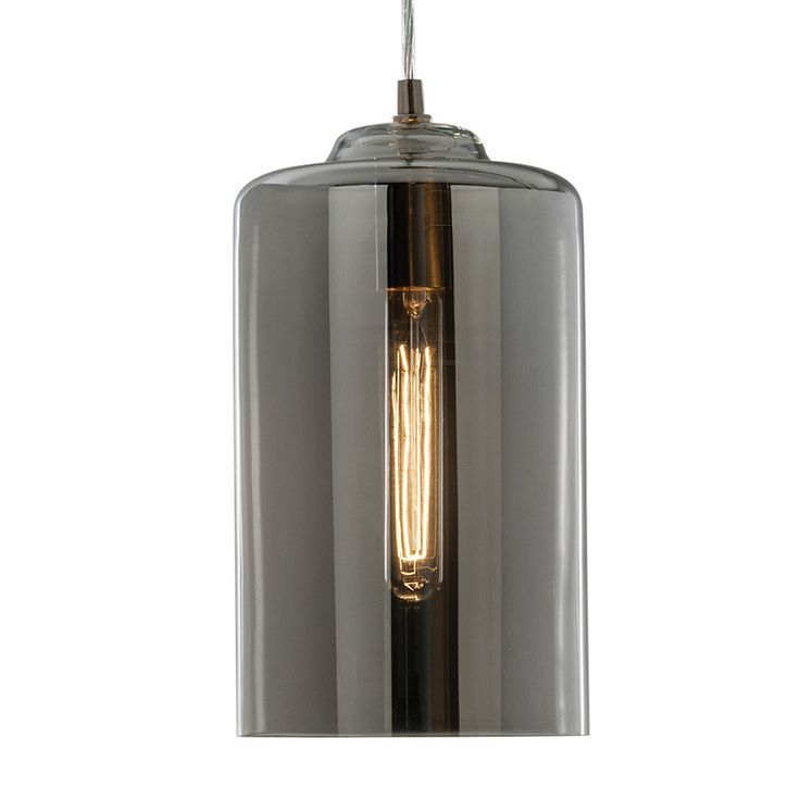 Allen roth 701 in w brushed nickel pendant light with tinted allen roth 701 in w brushed nickel pendant light with tinted glass shade aloadofball Choice Image