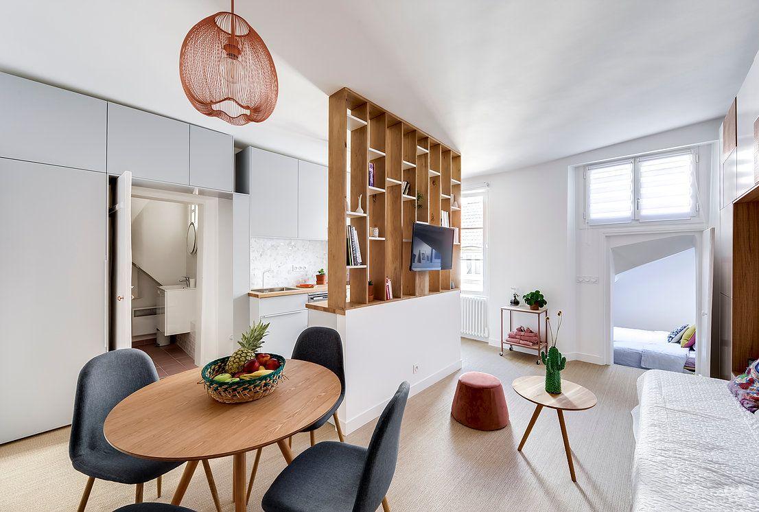 Salon Bureau Salle Manger R Novation Compl Te D Un  # Living Salon Bois Emplacement Tv