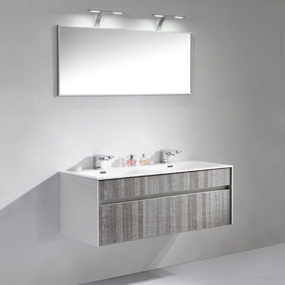 Lusso Stone Encore Double Designer Wall Mounted Bathroom Vanity Unit ...
