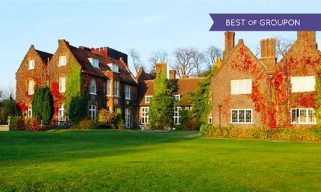 2017 UK to: Hertfordshire: 1 or 2 Nights for Two with Breakfast, Dinner and Leisure Club Access at 4* Letchworth Hall Hotel UK 2017 Deal:  for just: £89.00