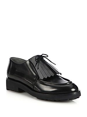 Robert Clergerie Fringed Leather Mules FNxKbp8h