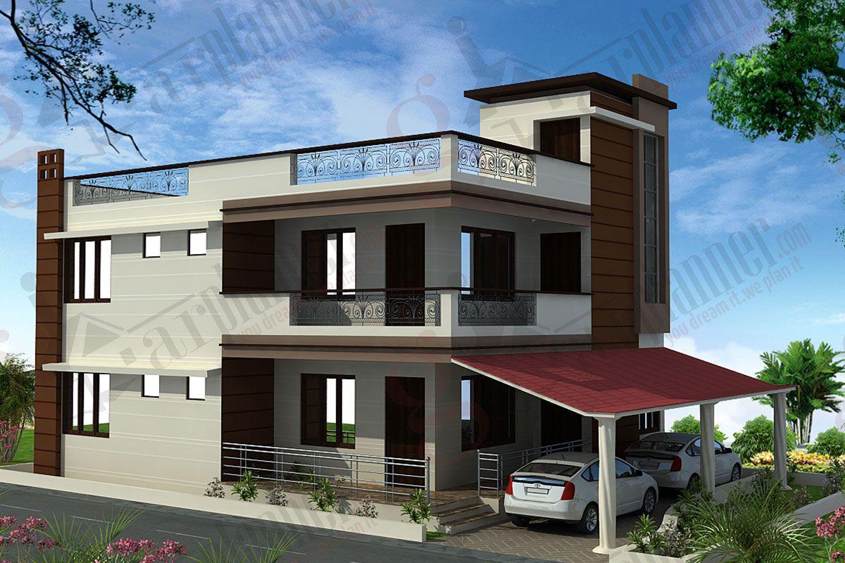 Undefined modern house elevation pinterest house for Modern duplex elevation