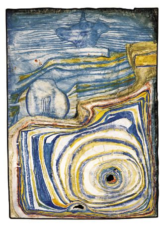 Paintings - Hundertwasser LES CHEMINS ROSES DU TOGGENBURG  1956 aquarelle