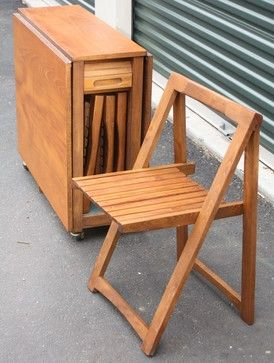 Vintage Teak Foldable Table And 4 Folding Chairs Wood Folding Chair Foldable Table Home Decor Shelves