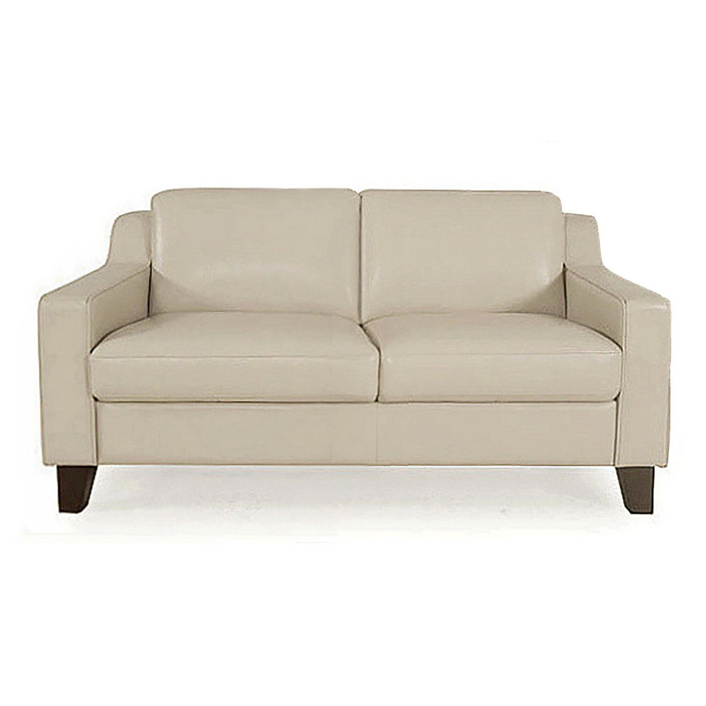 Barber Leather Apartment Size Sofa Tan Products Apartment Size
