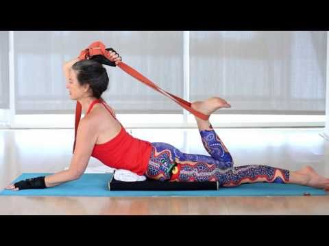 e939815d5c8e8 Half-Bow Pose with a Yoga Strap Tutorial by Ana Forrest   Forrest Yoga -  YouTube