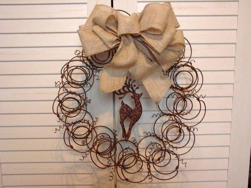 Jeanne Sammons's wreath made by her friend, Nancy