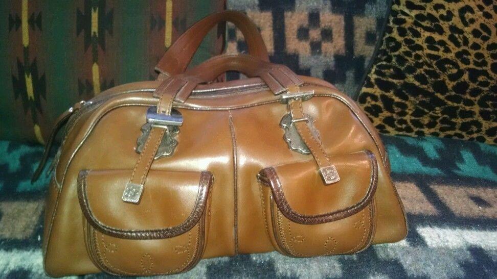 Brown Leather two handle Medium Satchel Western Fransisco Biasa Handbag Purse #FRANCESCOBIASIA #Satchel