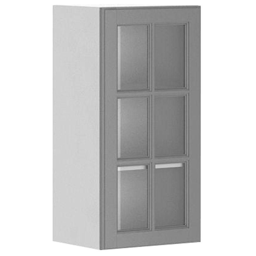 15x30x12 5 In Buckingham Wall Cabinet In White Melamine And Glass