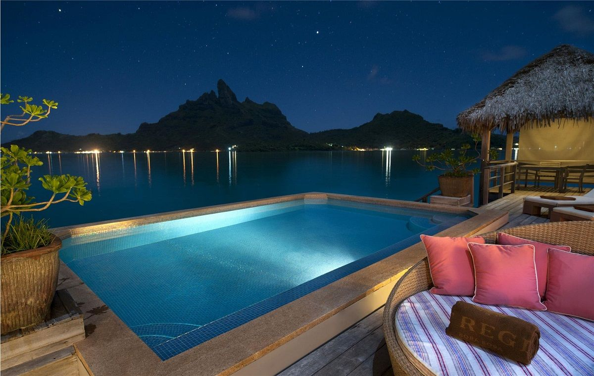 Terrace with infinity pool