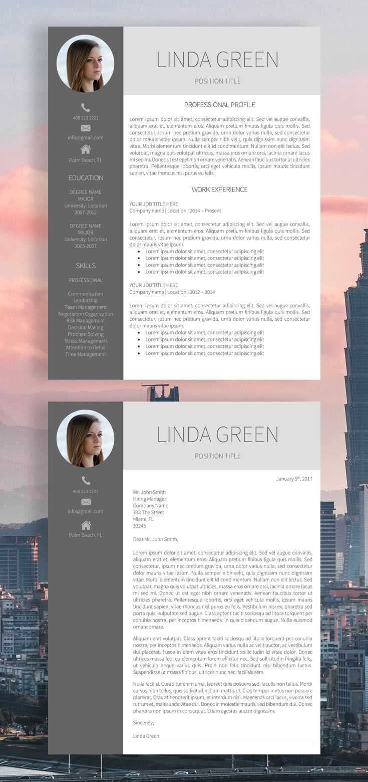 mac pages resume templates%0A Resume template  Modern resume template  Professional resume  CV template   Modern cv