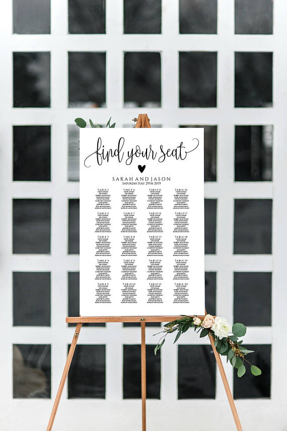 wedding seating chart template printable find your seat wedding sign table seating chart instant download pdf wlp298