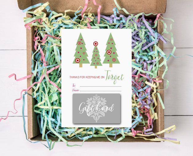 Christmas Tree Gift Card Holders Target 5x7 Teacher S Gifts