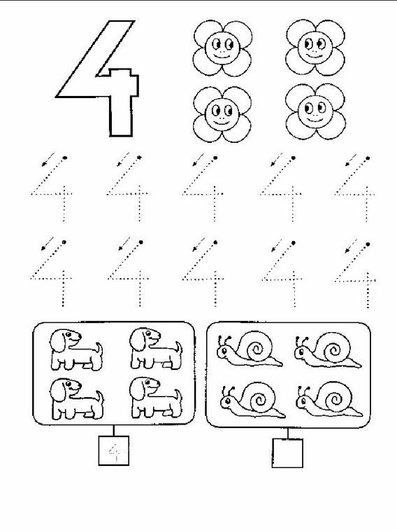 Aktivitäten für Kinder. Druckbare Übungen Zählen lernen 3 ...