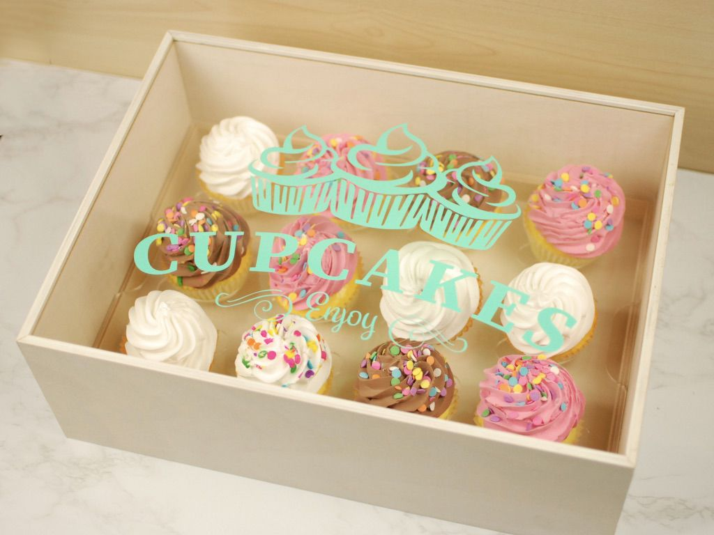 Custom cupcake box wremovable tray custom cupcakes