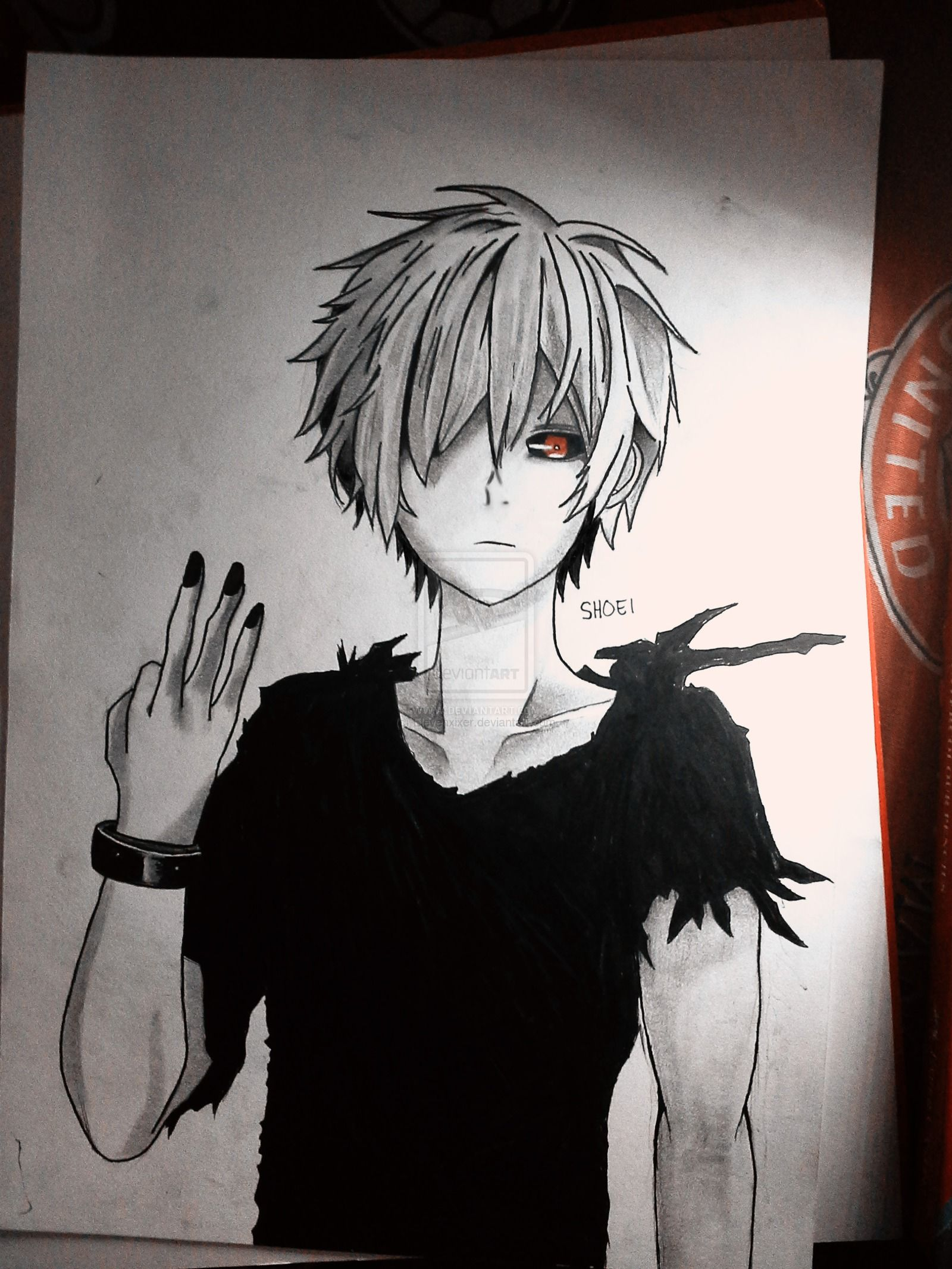 Image for kaneki ken pencil drawing