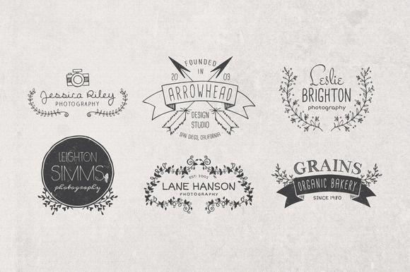Hand Drawn Logos + Elements Vol. 1 ~ Illustrations on