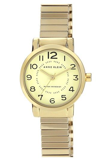 Anne Klein Round Expandable Bracelet Watch, 26mm available at #Nordstrom