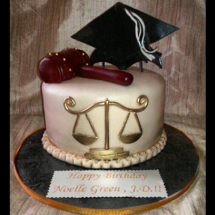 Law School Graduation Bday Cake