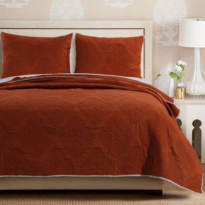 Charlton Home Orting Quilt Set In 2020 Rote Tagesdecke Style At