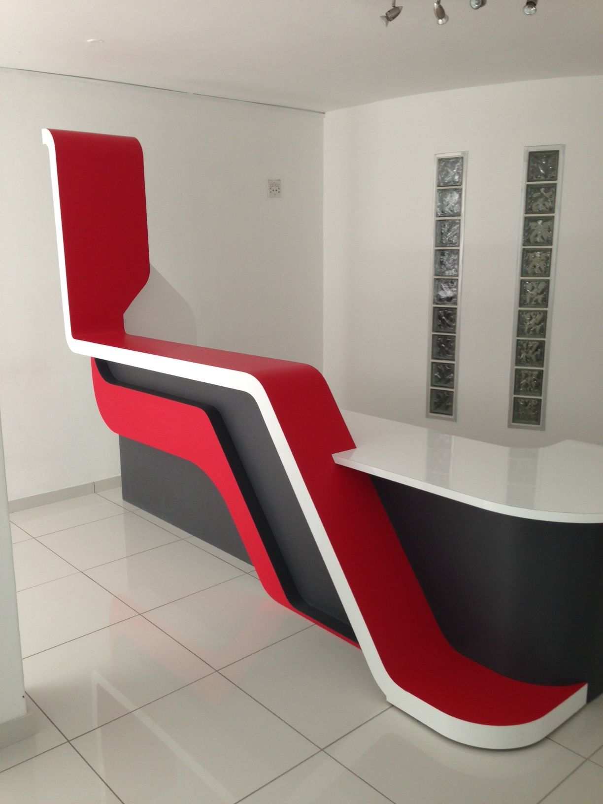 New reception counter designed and built using Kydex | Receptions ...