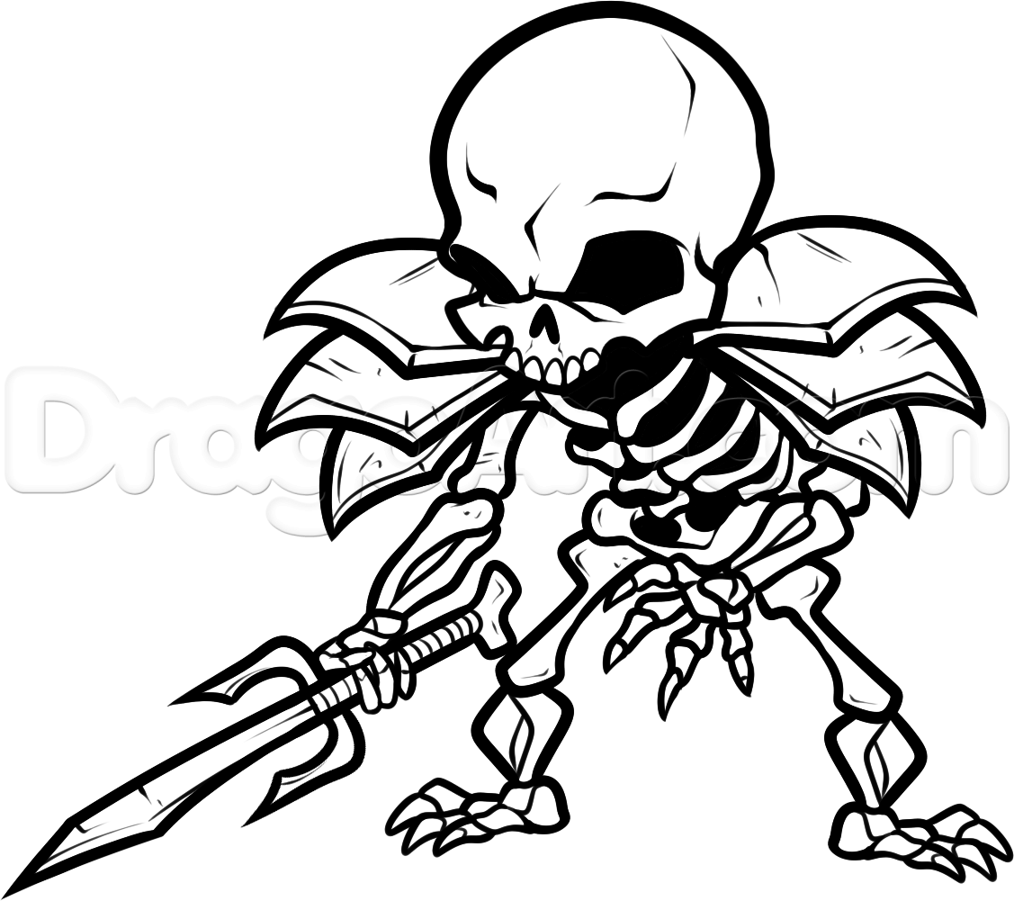 Skeleton Coloring Pages Free
